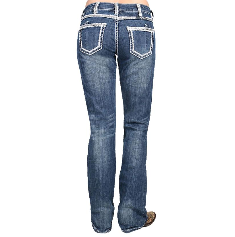 Cowgirl Tuff Womens First Class Dark Wash Boot Cut Jeans