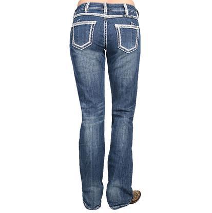 Cowgirl Tuff Women's First Class Dark Wash Boot Cut Jeans