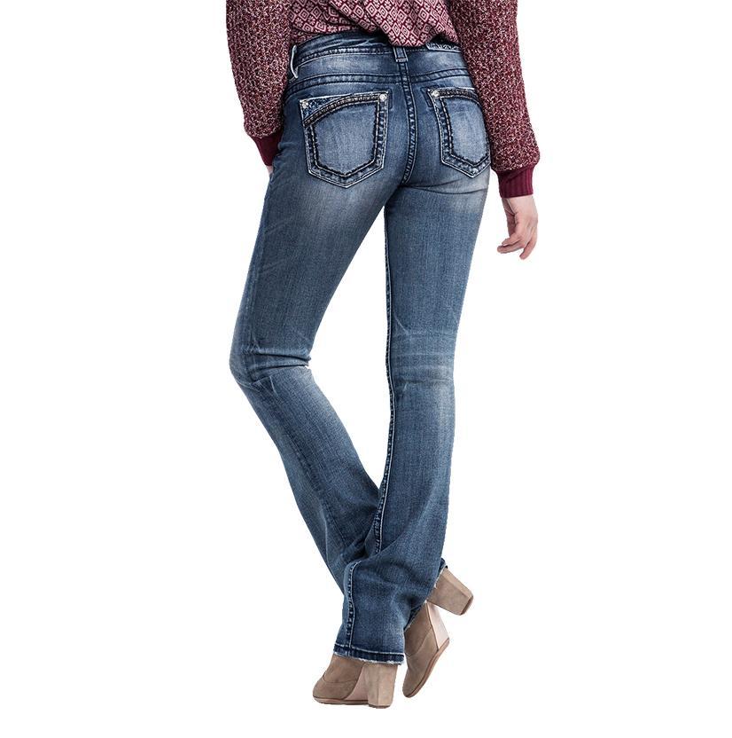 Miss Me Women's Mid Rise Slim Boot Cut Jean