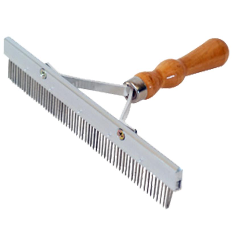 Wood Handle Aluminum Comb