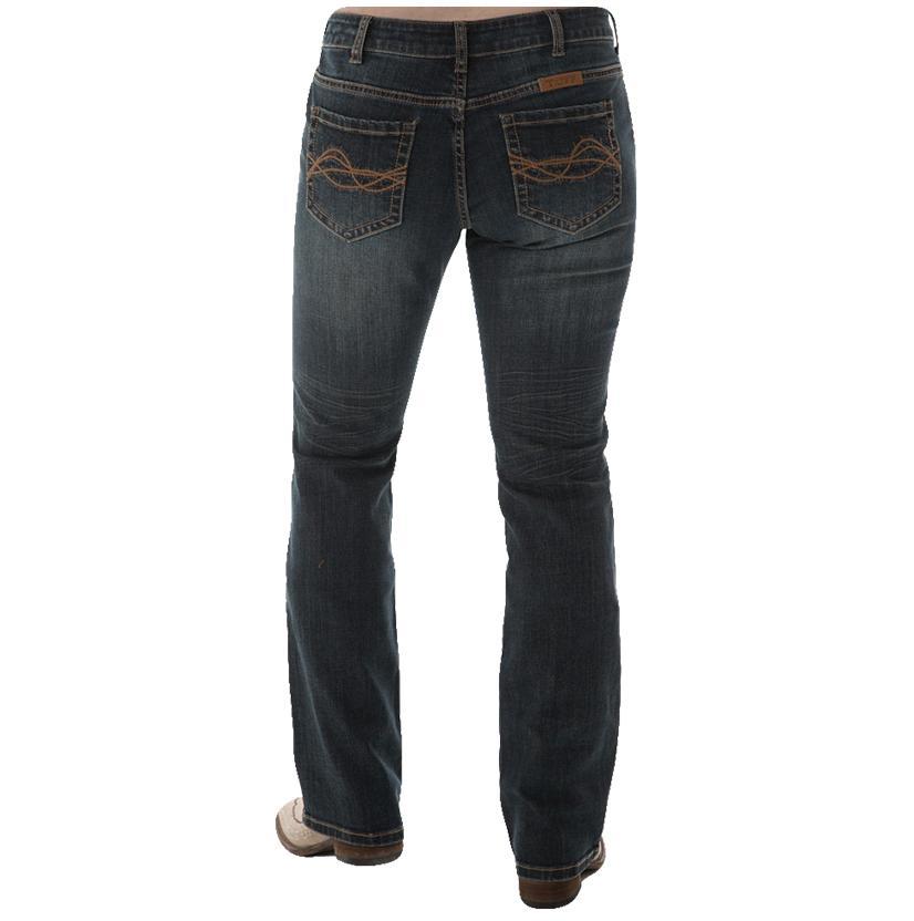 Cowgirl Tuff Womens Western Edge Dark Jeans