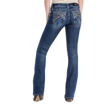 Miss Me Women's Boot Cut Embroidered Jeans
