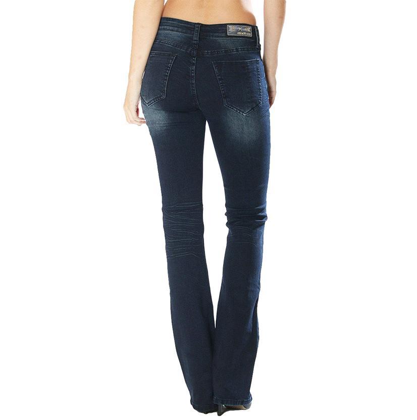 Grace In La Women's Easy Fit Plain Pocket Jean