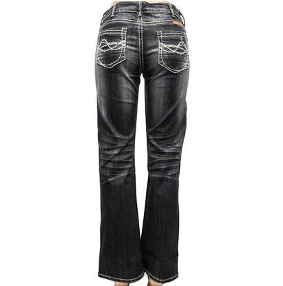 Cowgirl Tuff Western Denim Pearl Regular Dark Jeans