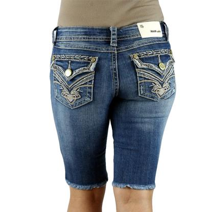Grace in LA Womens Bermuda Denim Shorts