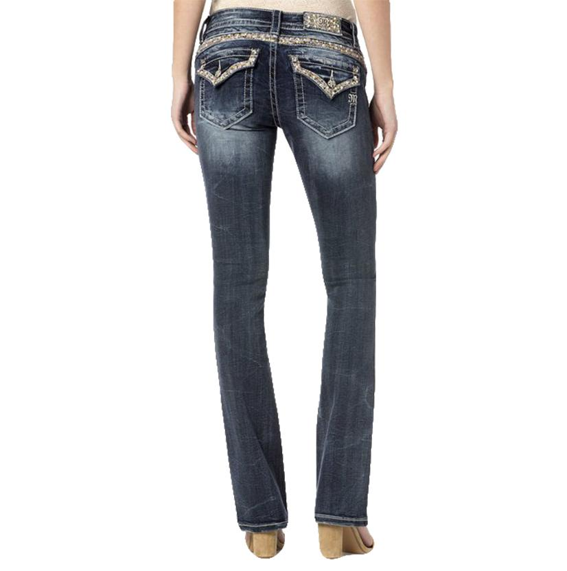 Miss Me Womens Embellished Dream Girl Slim Denim Jeans