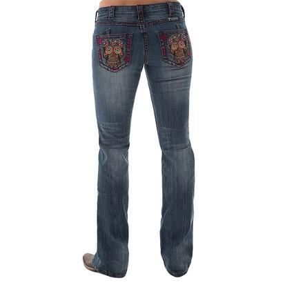Cowgirl Tuff Western Denim Studded Skulls Jeans