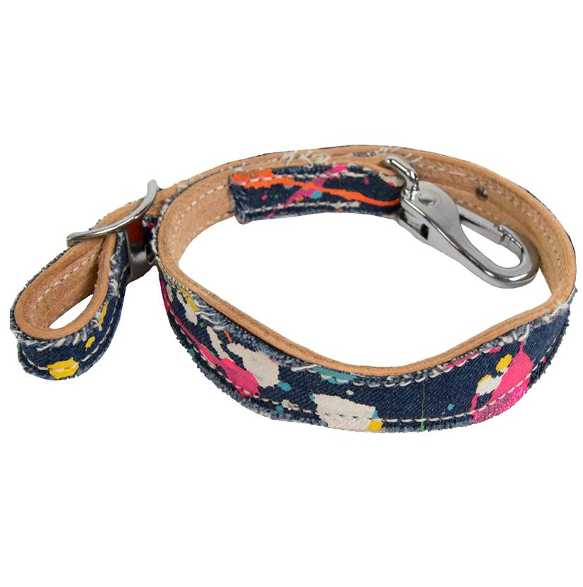 Cactus Saddlery Splattered Denim Wither Strap