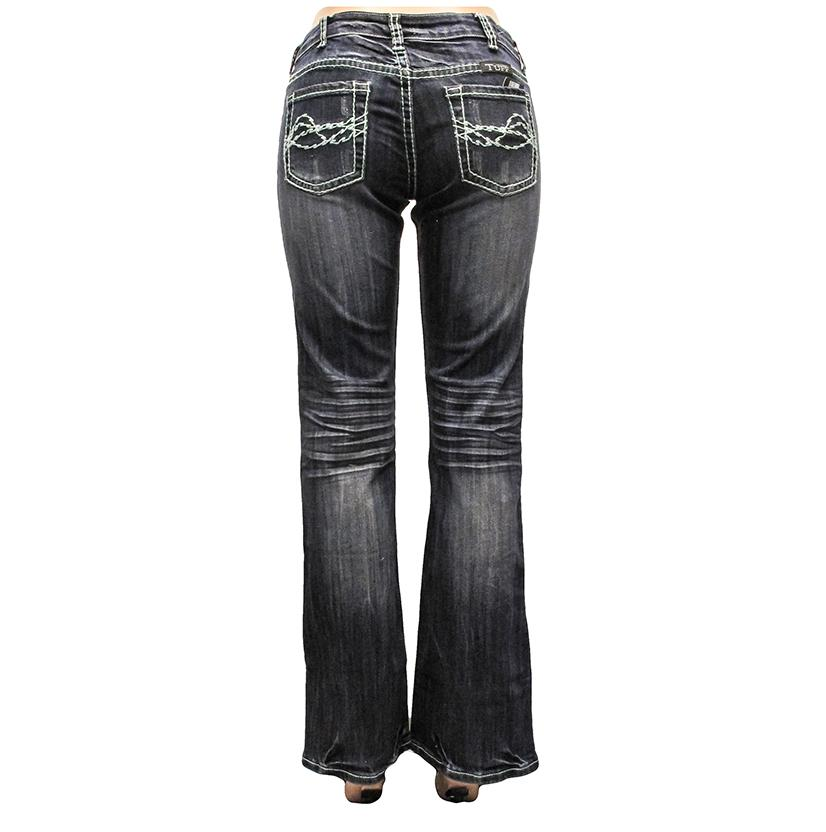 Cowgirl Tuff Womens Spring Fever Bootcut Midrise Jeans