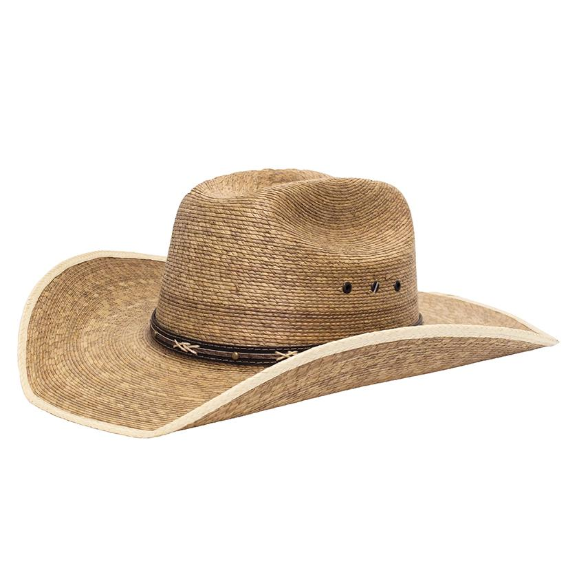 STT 2 Tone Ponderosa Brown Mix Straw Hat