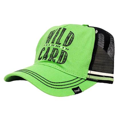 Cruel Girl Navy & Lime Meshback Cap