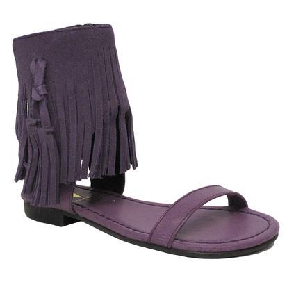 Very Volatile Saige Girls Purple Fringed Sandal