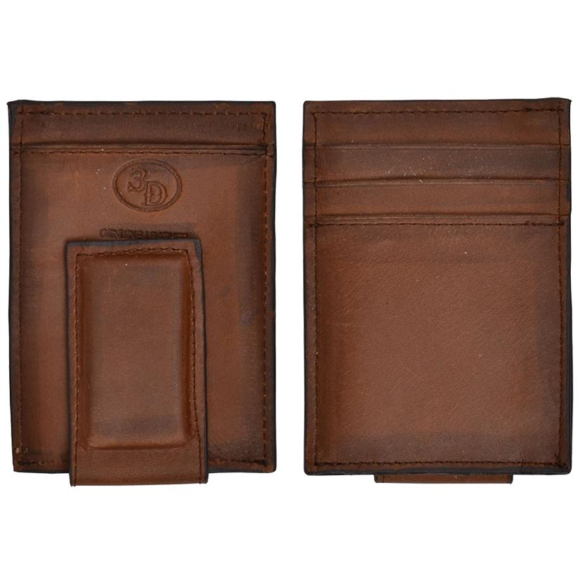 3d Brown Basic Money Clip