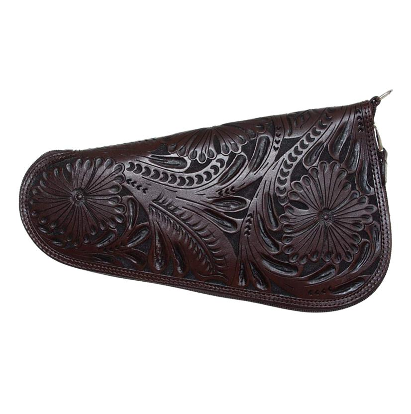 3d Belt Company Embossed Leather Brown Pistol Case