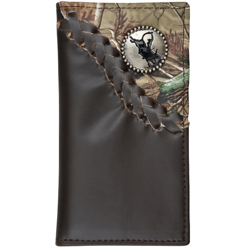 3d Boys Dark Brown And Camo Rodeo Wallet