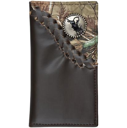 3D Boys' Dark Brown and Camo Rodeo Wallet