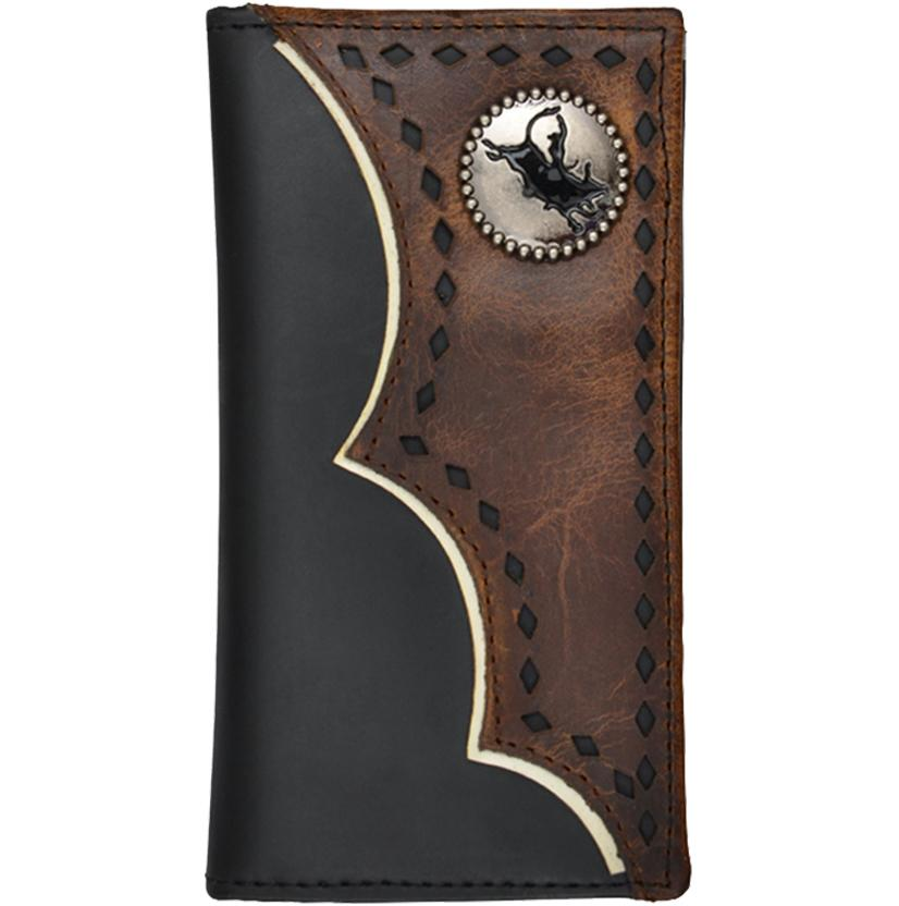 3d Boys Black And Distressed Brown Leather Rodeo Wallet