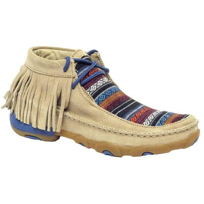 Twisted X Womens Serape Fringe Driving Moc