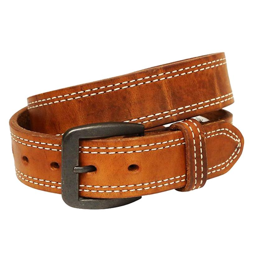 3d 1 1/2in Mens Brown Western Basic Belt