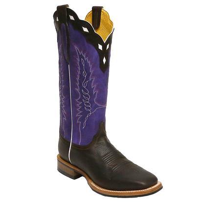Cinch Mens Dark Brown Purple Boots