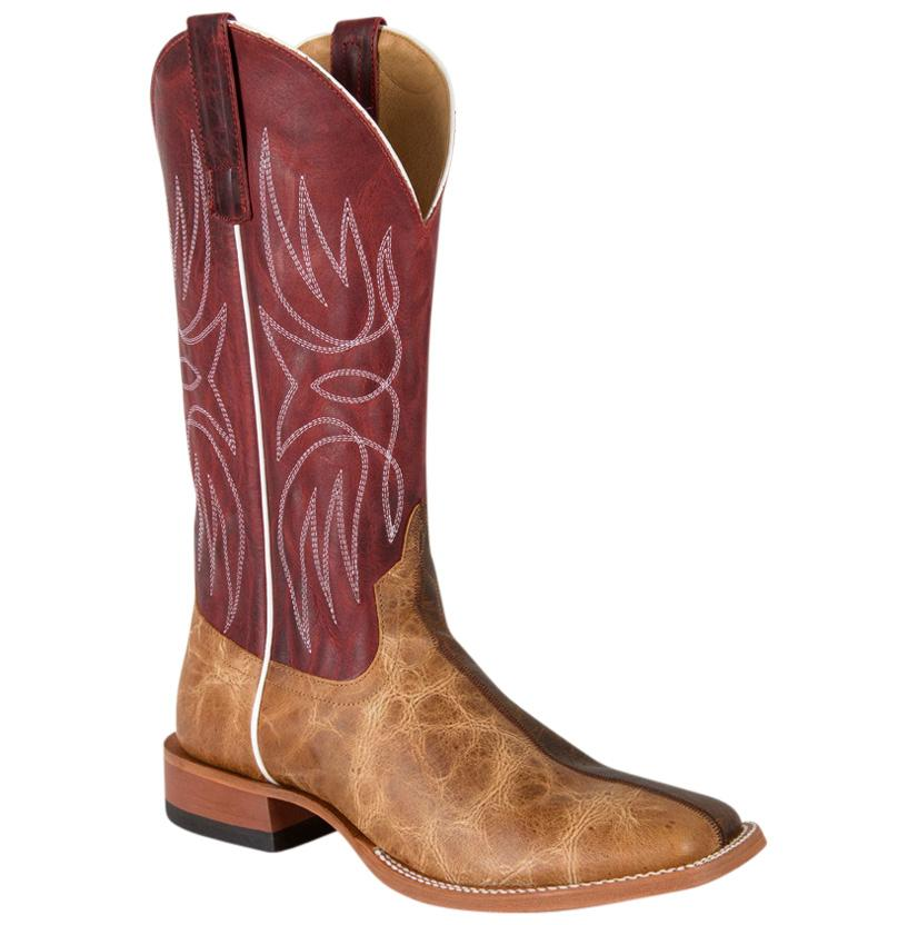 Horse Power Mens Two Face Brown Western Boots