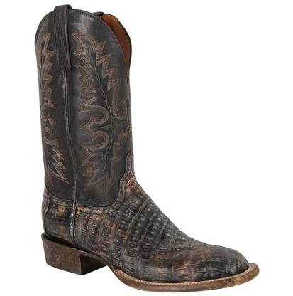 Lucchese Mens Timber Belize Caiman Belly Cowboy Boots