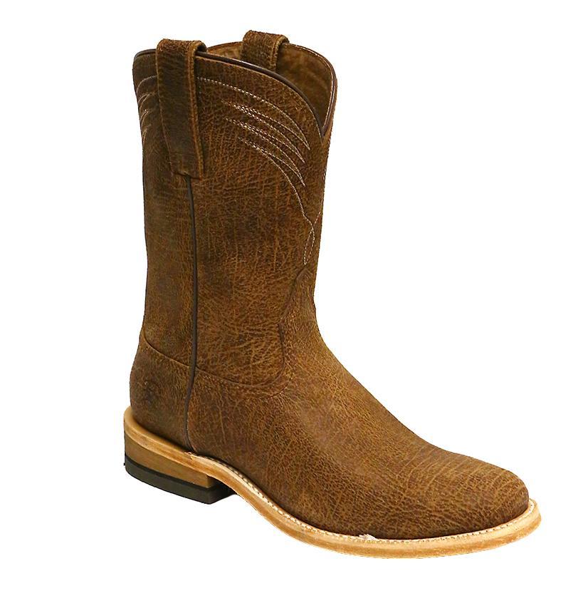 Ariat Mens Dress Roper Rugged Brown Boot