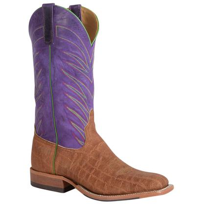 Anderson Bean Mens Purple Top Brick Oiled Elephant Boots