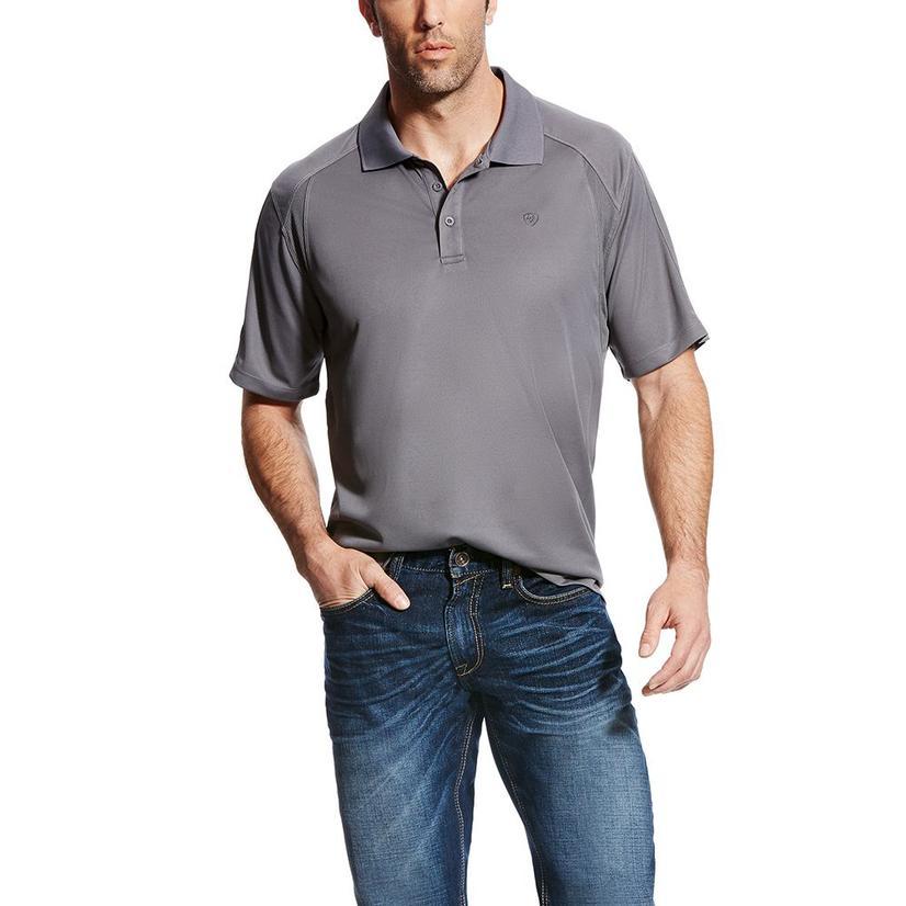Ariat Mens Ac Shodow Grey Polo