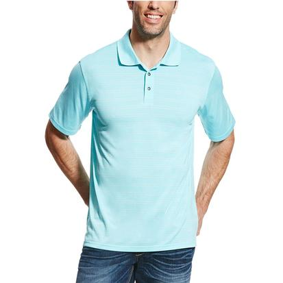Ariat Mens Faded Blue Radiance Polo Shirt