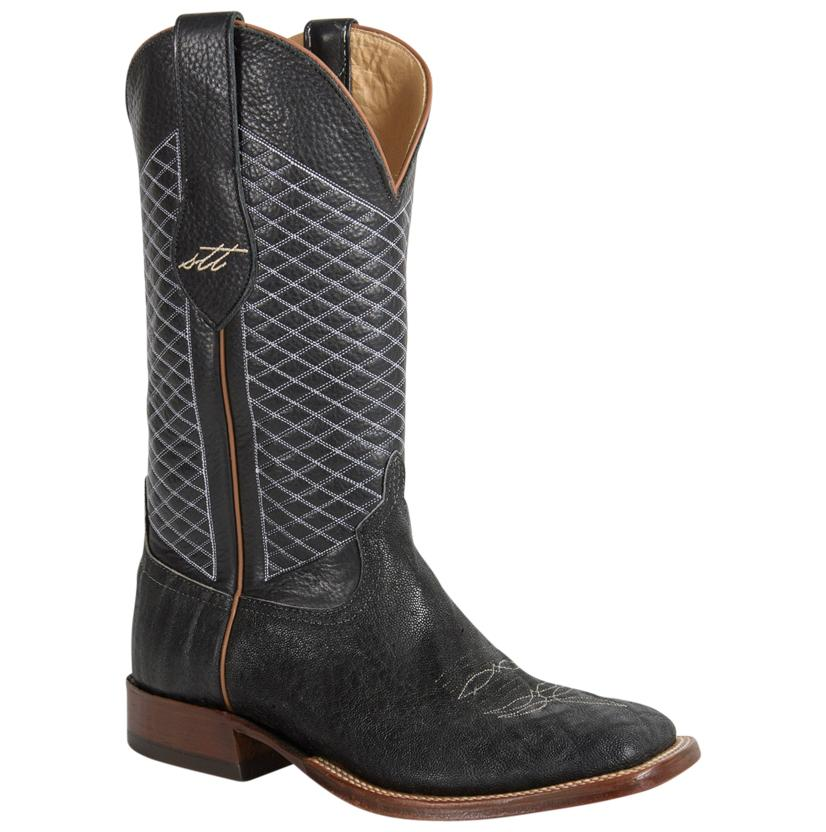 Anderson Bean Black Elephant Diamond Cross Cowboy Boot