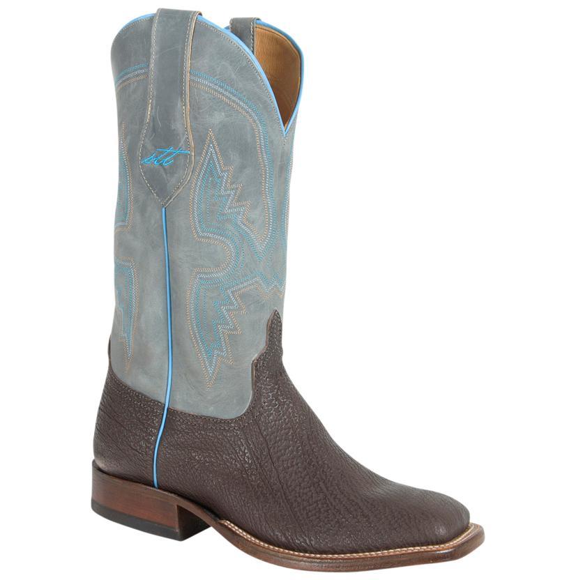 Anderson Bean Mens Chocolate Shark Grey Shaft Boots