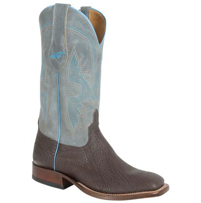 Anderson Bean Mens Chocolate Shark Grey Shaft Boots