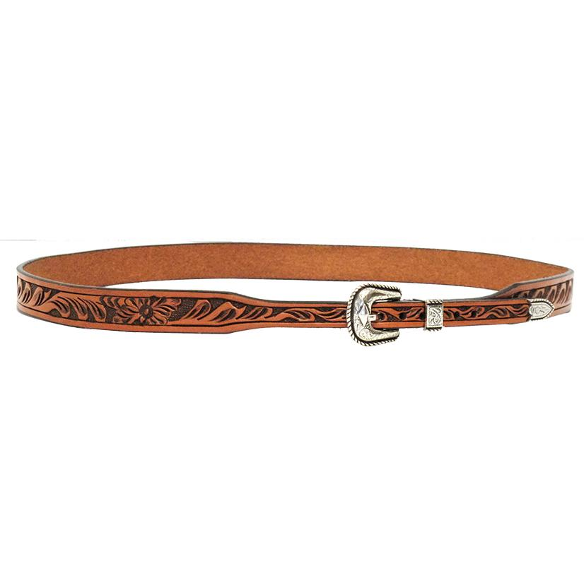 3d Floral Tooled Leather Hatband