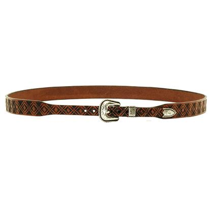 3D Tan Leather Western Hatband