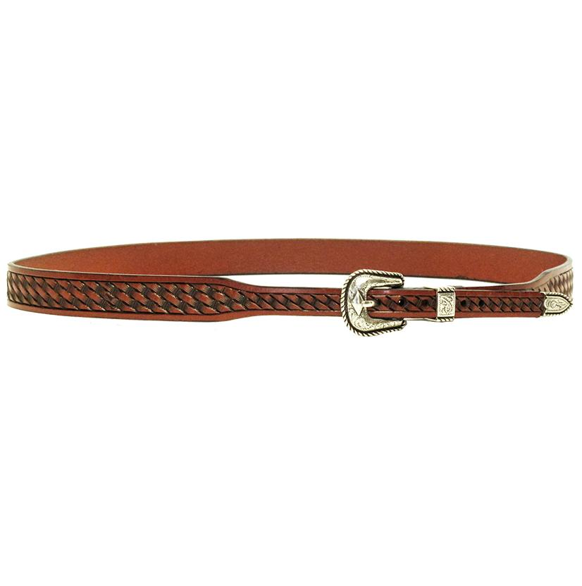 3d Tan Basketweave Leather Western Hatband
