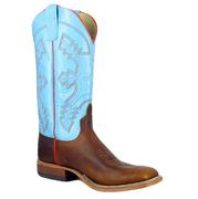 Anderson Bean Men's Briar Lupine Teal Blue Top Boots