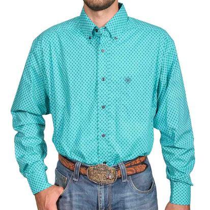 Ariat Atherton Driftwood Turquoise Longsleeve Men's Buttondown Shirt