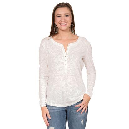 Ariat Womens Agnes Henley Cloud Dancer Top