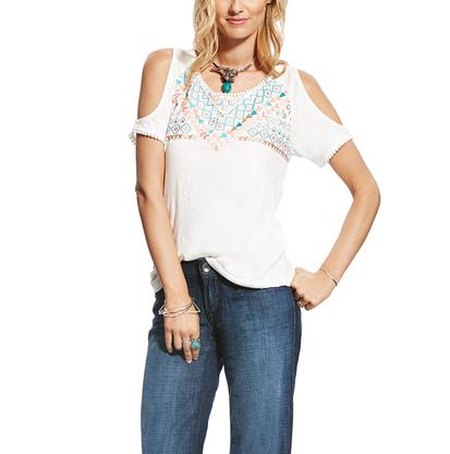Ariat Womens Lexi Snow White Top