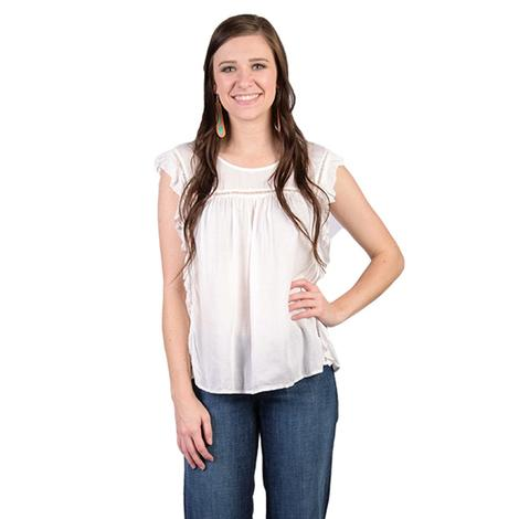 Ariat Womens Libby Snow White Top