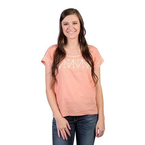 Ariat Womens Tamera Peach Amber Top