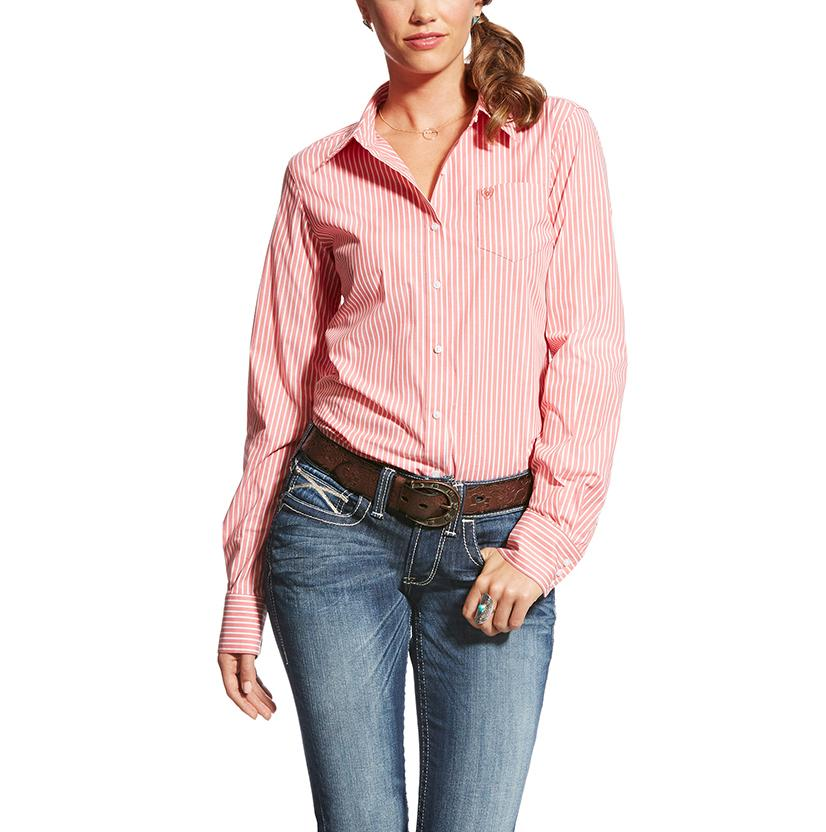 Ariat Womens Kirby Stretch Dubarry Stripe Button Down Shirt