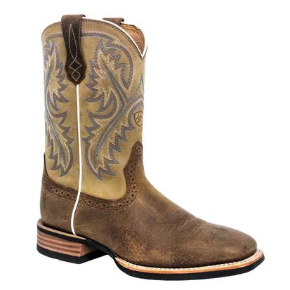 Ariat Mens Quickdraw Western Boots - Bark/Beige