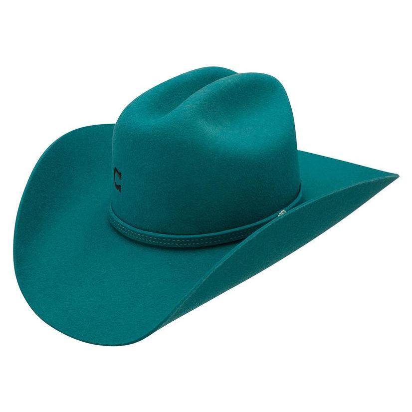 Charlie 1 Horse Dimestore Cowgirl Teal Felt Cowboy Hat