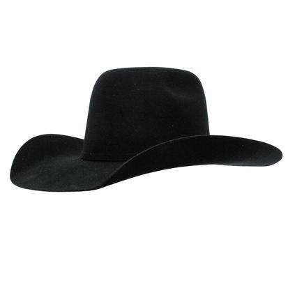 Resistol Tuff Hedeman 3X Pay Window Black Felt Cowboy Hat