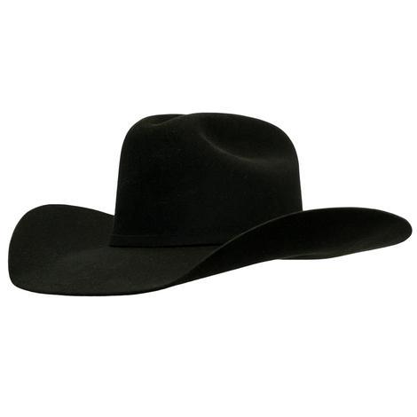 Resistol USTRC 6X Black Felt Cowboy Hat