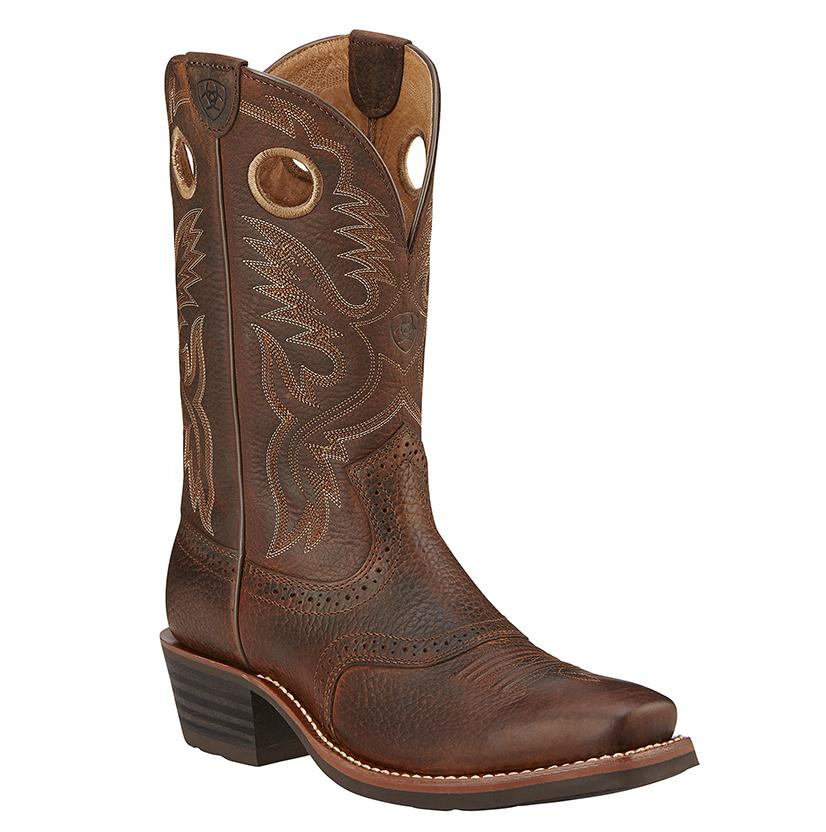 Ariat Men's Heritage Roughstock Leather W/Saddle Vamp Cowboy Boots