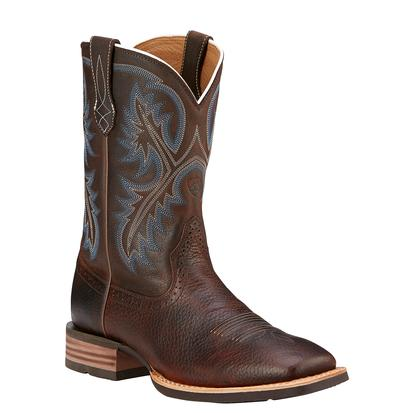 Ariat Mens Brown Oiled Rowdy Quickdraw Cowboy Boots