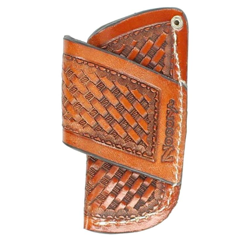 Nocona Crossdraw Knife Scabbard Basket Tooled
